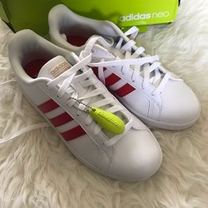 Adidas Advantage Red / White Shoes Sneakers
